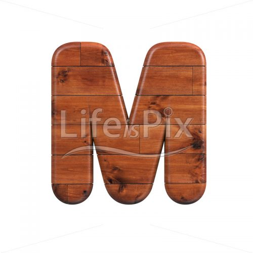 wood letter M – Upper-case 3d font – Royalty free stock photos, illustrations and 3d letters fonts