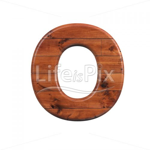 wood letter O – Capital 3d character – Royalty free stock photos, illustrations and 3d letters fonts