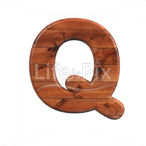 wood letter Q – large 3d letter – Royalty free stock photos, illustrations and 3d letters fonts