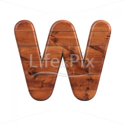 wood letter W – Uppercase 3d character – Royalty free stock photos, illustrations and 3d letters fonts