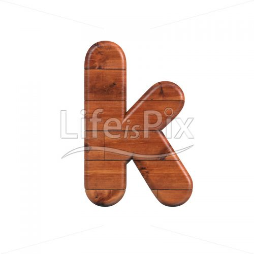 wooden plank letter K – Lower-case 3d font – Royalty free stock photos, illustrations and 3d letters fonts
