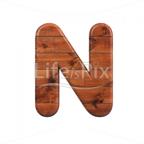 wooden plank letter N – Uppercase 3d character – Royalty free stock photos, illustrations and 3d letters fonts