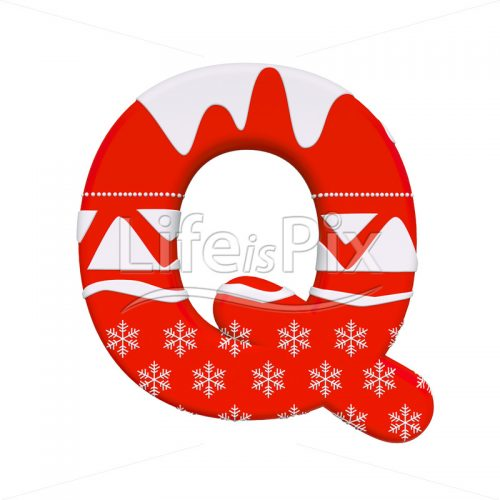 Santa Claus letter Q – large 3d letter – Royalty free stock photos, illustrations and 3d letters fonts