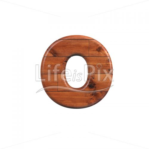 Wooden parquet letter O – Lowercase 3d character – Royalty free stock photos, illustrations and 3d letters fonts