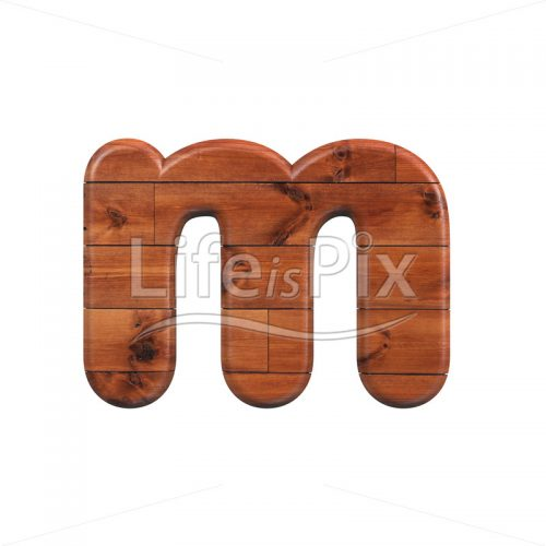 wood letter M – Small 3d character – Royalty free stock photos, illustrations and 3d letters fonts