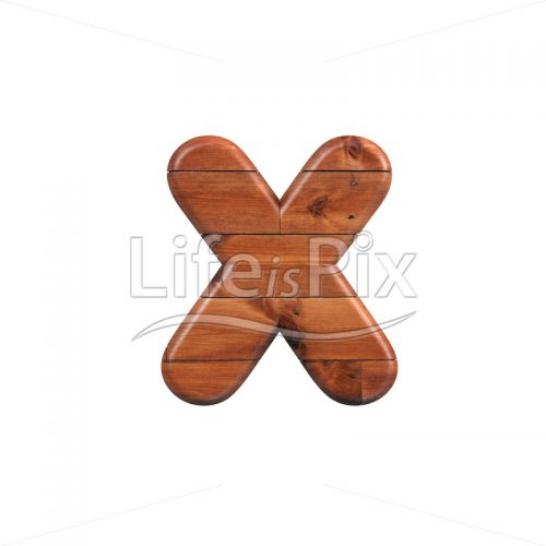 wood letter X – Lower-case 3d character – Royalty free stock photos, illustrations and 3d letters fonts