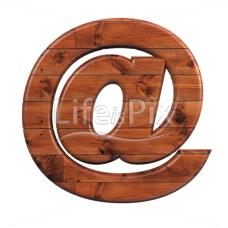 wooden plank Arobase symbol – 3d at symbol – Royalty free stock photos, illustrations and 3d letters fonts