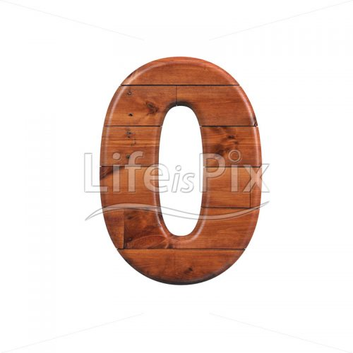 wooden plank digit 0 –  3d numeral – Royalty free stock photos, illustrations and 3d letters fonts
