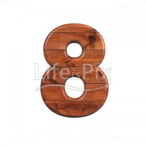 wooden plank digit 8 –  3d numeral – Royalty free stock photos, illustrations and 3d letters fonts