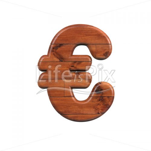 wooden plank euro currency symbol – 3d Currency symbol – Royalty free stock photos, illustrations and 3d letters fonts