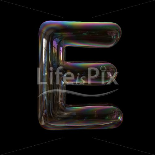 Bubble letter E – large 3d font – Royalty free stock photos, illustrations and 3d letters fonts