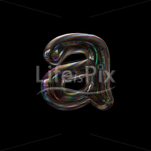 Soap bubble letter A – Small 3d character – Royalty free stock photos, illustrations and 3d letters fonts