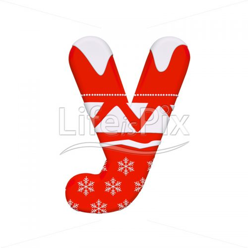 Winter letter Y – Lowercase 3d font – Royalty free stock photos, illustrations and 3d letters fonts
