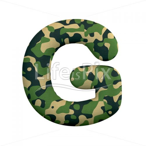 Army letter G – large 3d letter – Royalty free stock photos, illustrations and 3d letters fonts