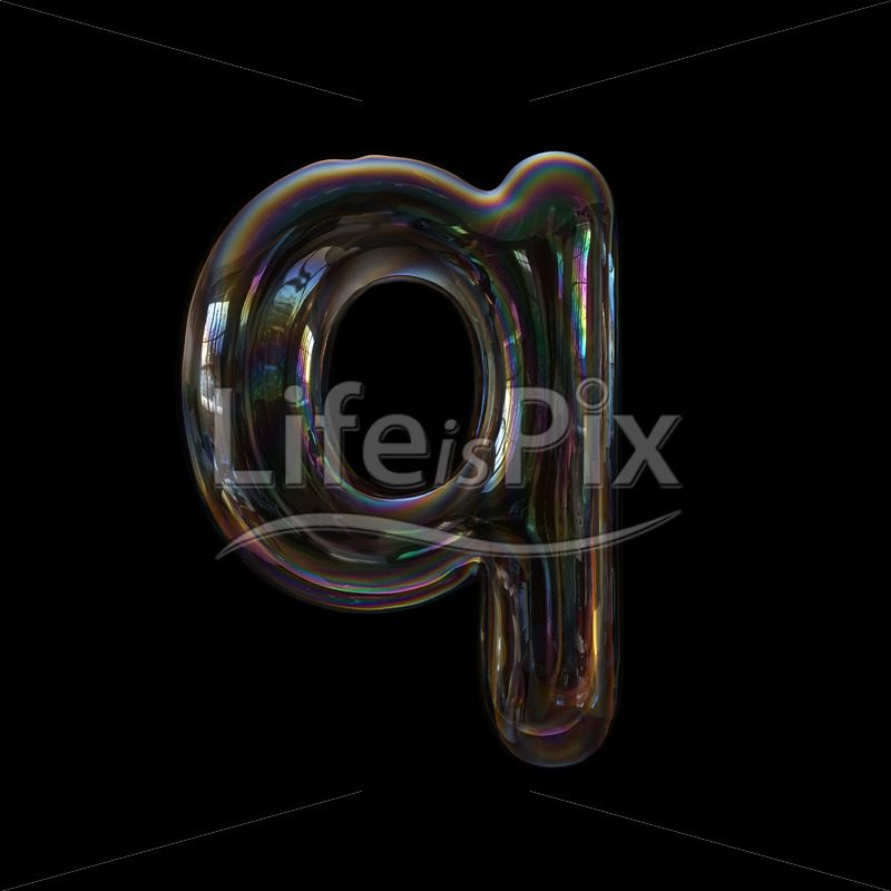 Bubble letter Q – Small 3d character – Royalty free stock photos, illustrations and 3d letters fonts