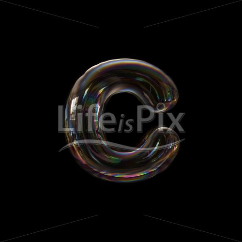transparent font C – Small 3d letter – Royalty free stock photos, illustrations and 3d letters fonts