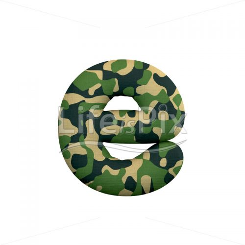 Army letter E – lowercase 3d font – Royalty free stock photos, illustrations and 3d letters fonts
