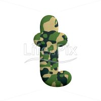 Camouflage font T – Small 3d character – Royalty free stock photos, illustrations and 3d letters fonts