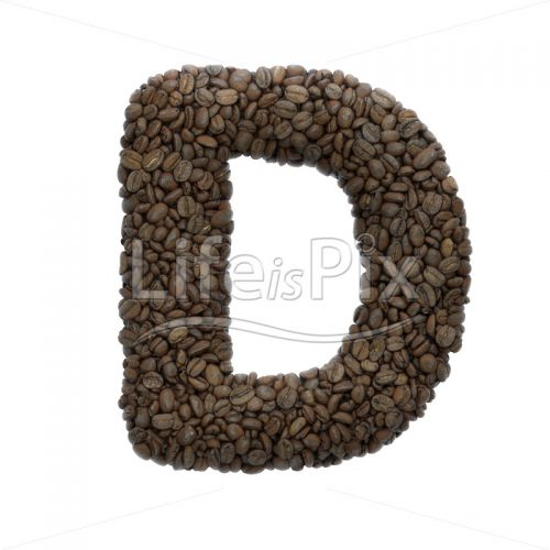 coffee letter D – Uppercase 3d letter – Royalty free stock photos, illustrations and 3d letters fonts