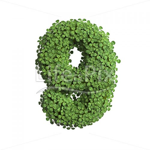 spring digit 9 –  3d numeral – Royalty free stock photos, illustrations and 3d letters fonts