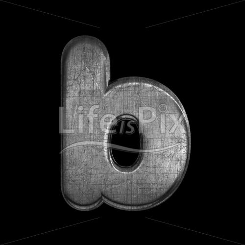 metal letter B – Small 3d font – Royalty free stock photos, illustrations and 3d letters fonts