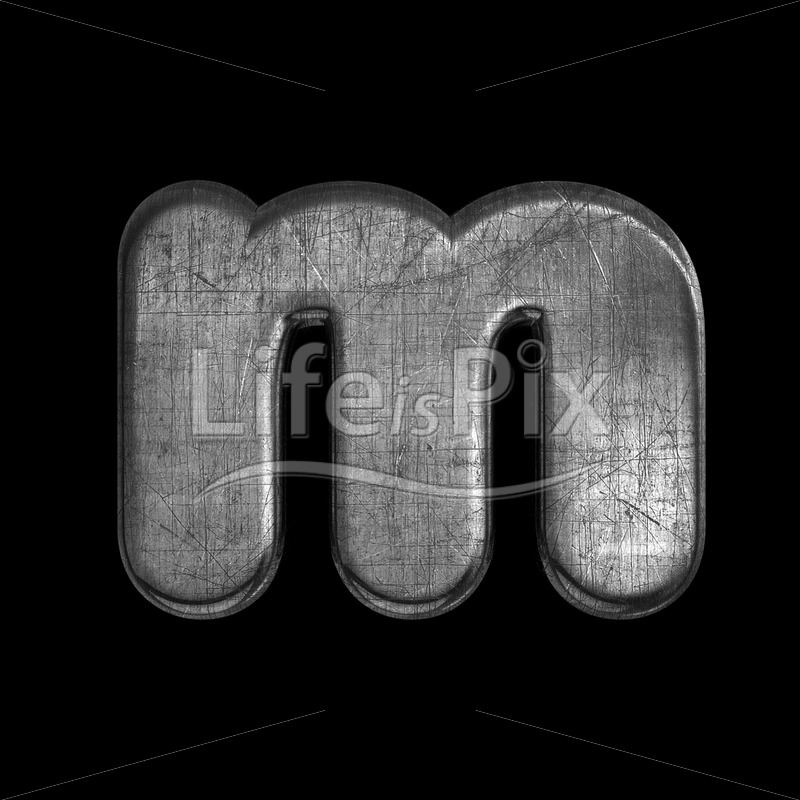 metal letter M – Small 3d character – Royalty free stock photos, illustrations and 3d letters fonts