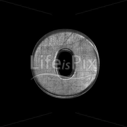 scratched silver letter O – Lowercase 3d character – Royalty free stock photos, illustrations and 3d letters fonts