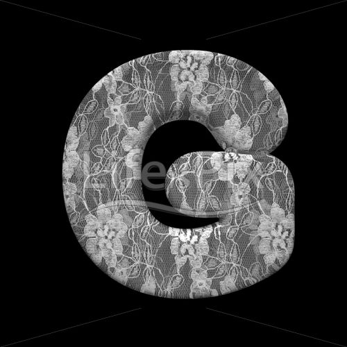 lace letter G – large 3d letter – Royalty free stock photos, illustrations and 3d letters fonts