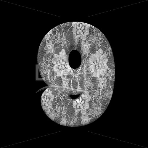 fabric digit 9 –  3d numeral – Royalty free stock photos, illustrations and 3d letters fonts