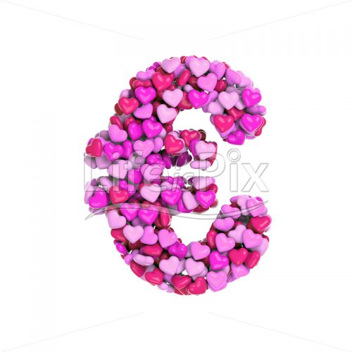 pink hearts euro currency symbol – 3d Currency symbol – Royalty free stock photos, illustrations and 3d letters fonts